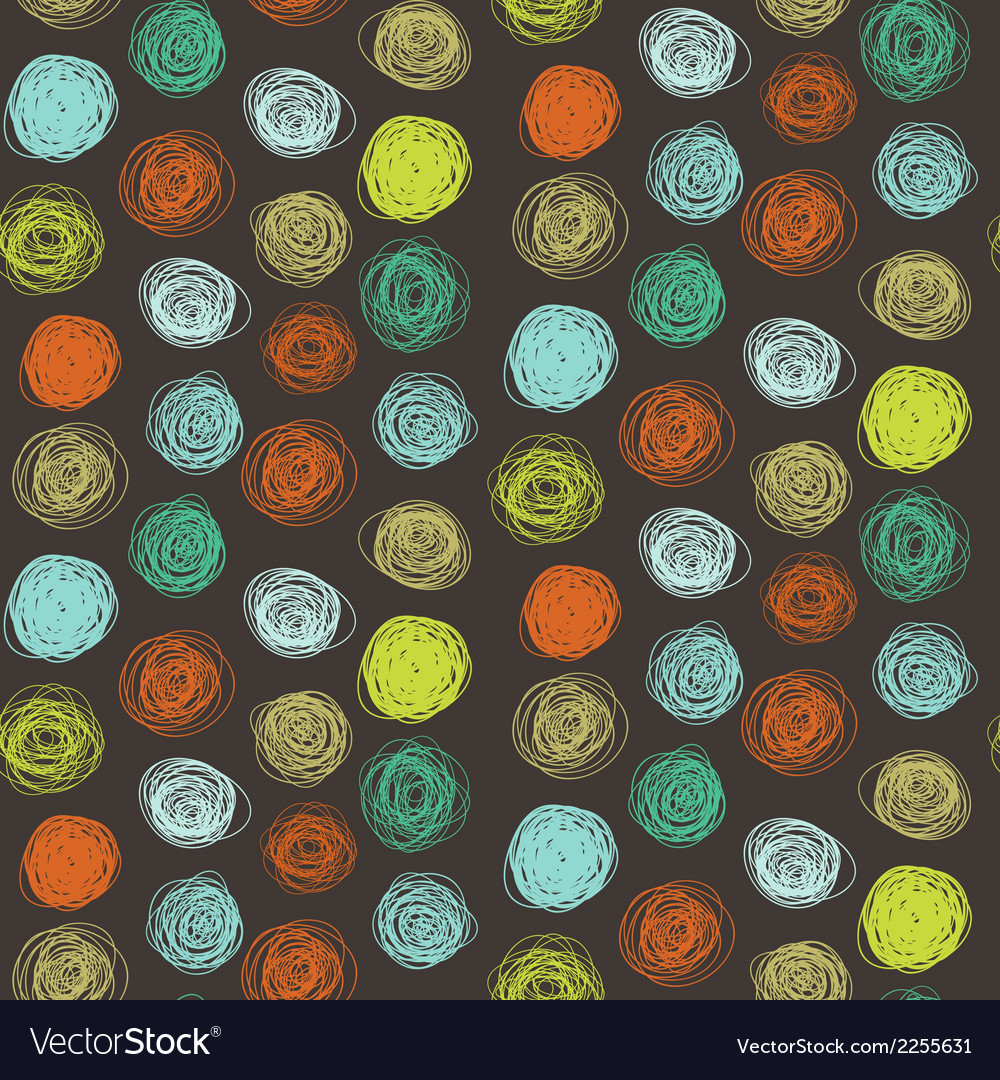 Seamless abstract childish scribble pattern vector | Price: 1 Credit (USD $1)