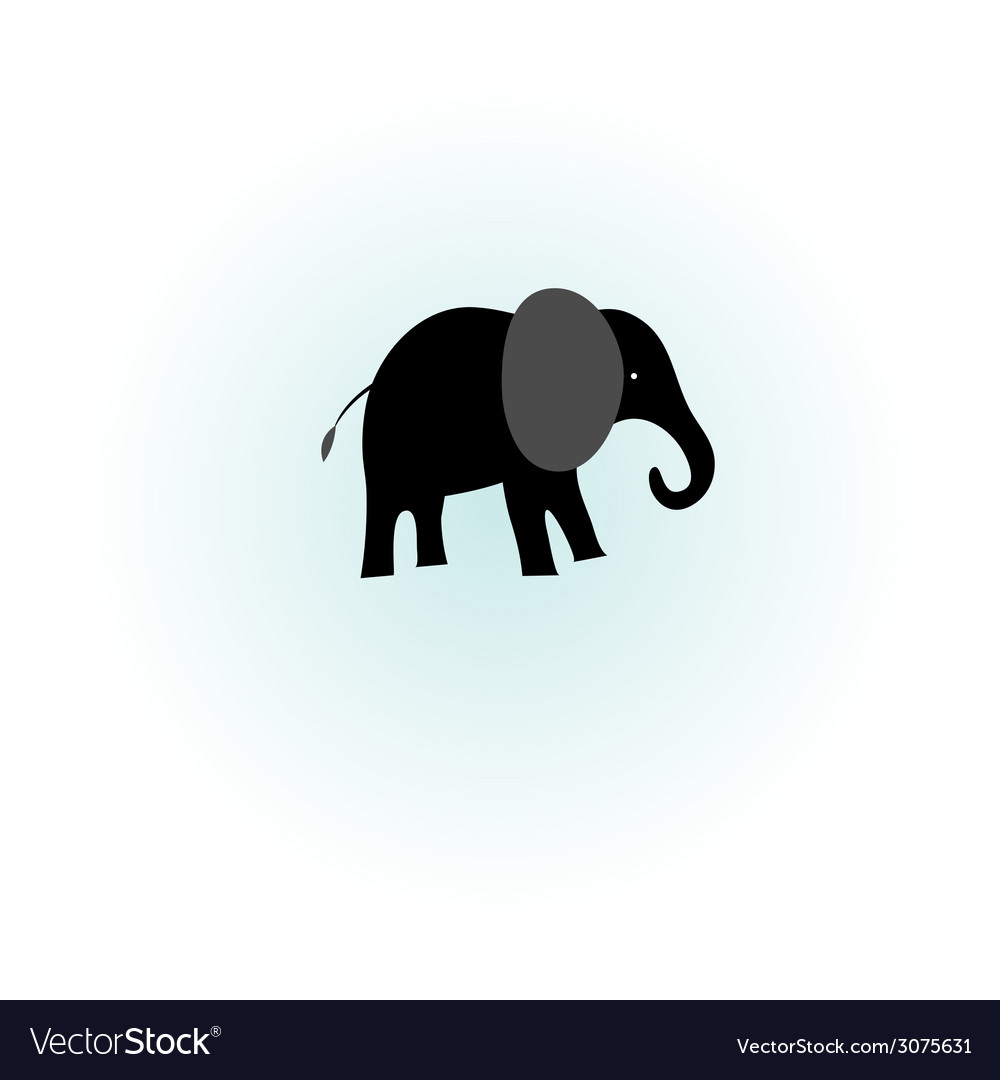 Silhouette of elephant vector | Price: 1 Credit (USD $1)