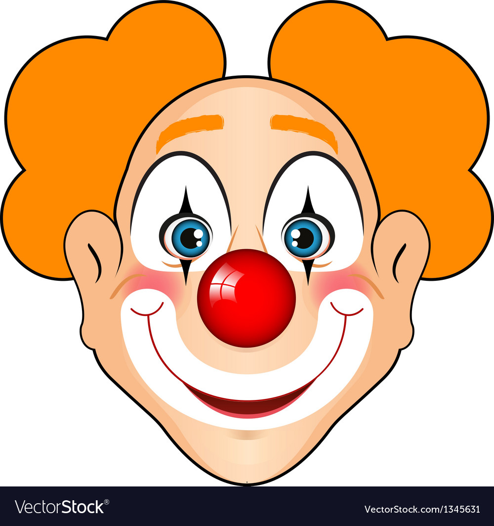 Smiling clown vector | Price: 1 Credit (USD $1)