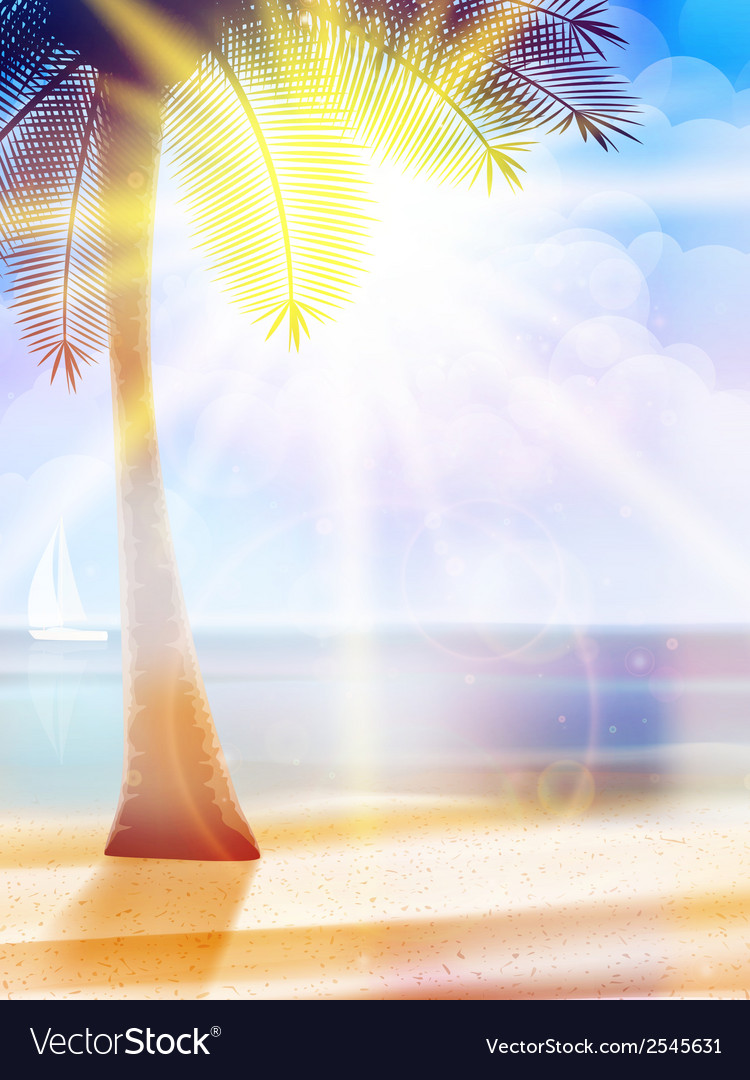 Summer hot holidays poster template vector | Price: 1 Credit (USD $1)