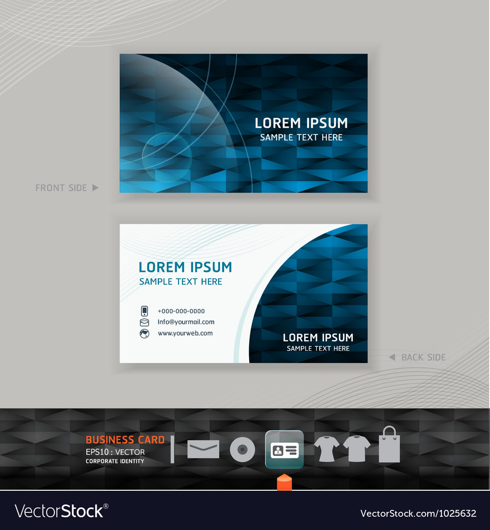 Abstract modern business-card design vector | Price: 3 Credit (USD $3)