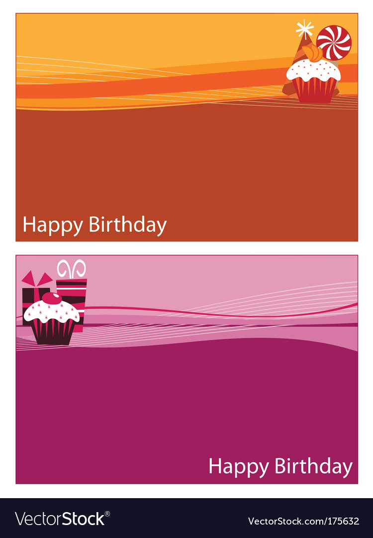 Birthday cards vector | Price: 1 Credit (USD $1)