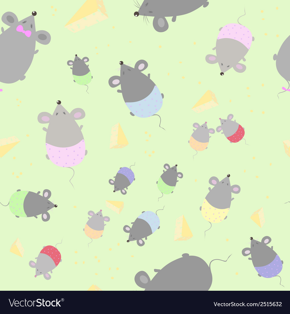 Childrens seamless texture with mice vector | Price: 1 Credit (USD $1)