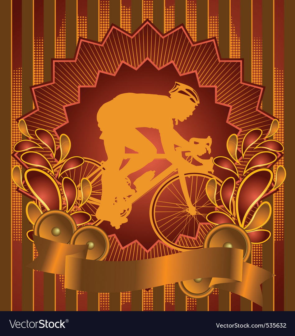 Cyclist vintage design vector | Price: 1 Credit (USD $1)