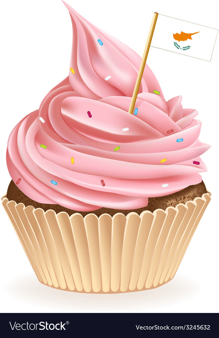Cyprus cupcake vector | Price: 1 Credit (USD $1)
