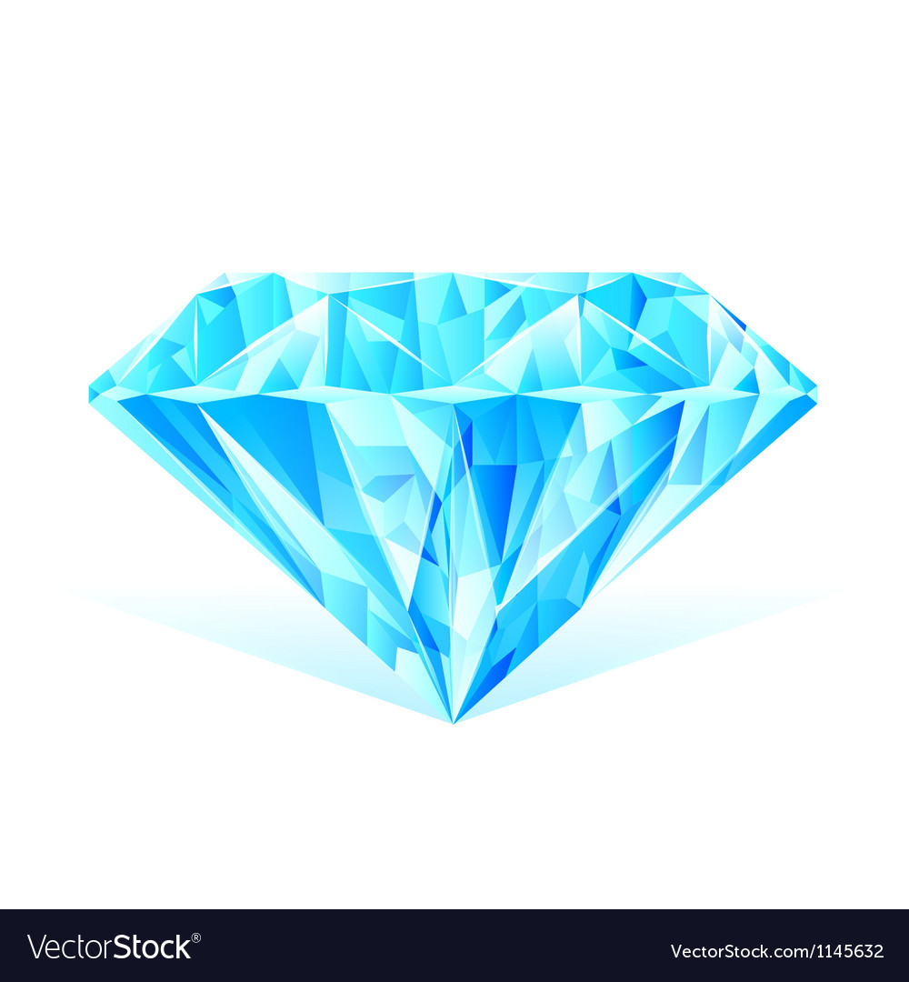 Diamond blue crystal vector | Price: 1 Credit (USD $1)