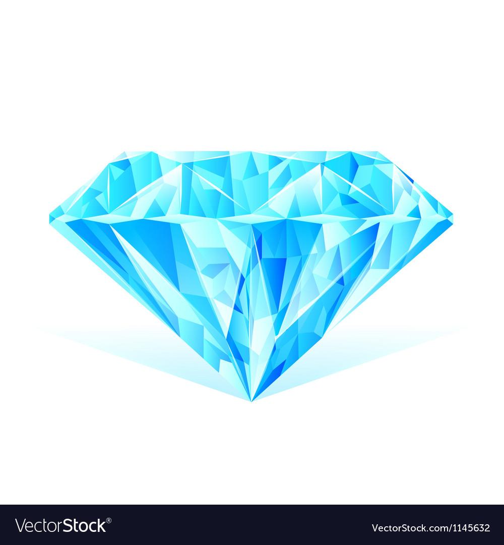 Diamond blue crystal vector | Price: 1 Credit (USD $1)