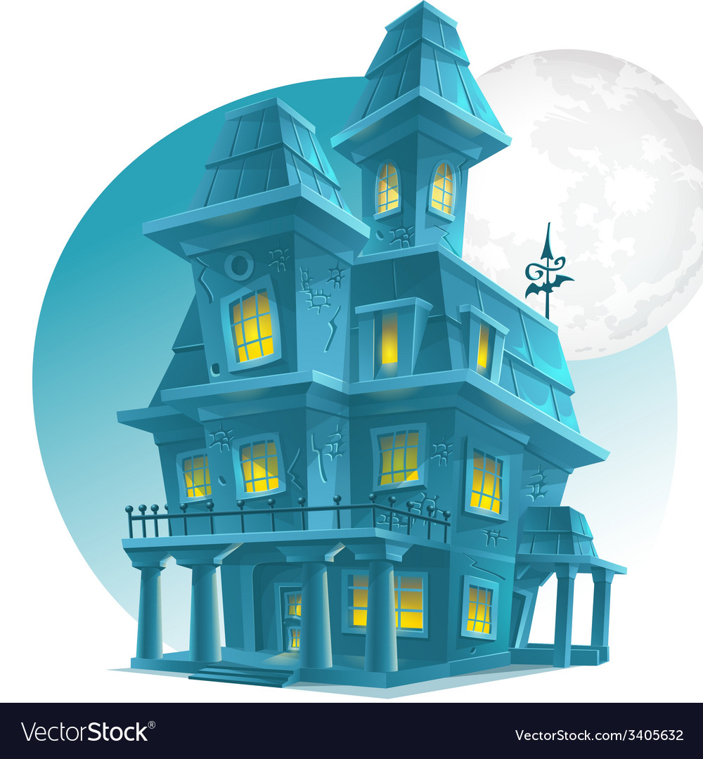 Image of a haunted house on a background of the vector | Price: 5 Credit (USD $5)