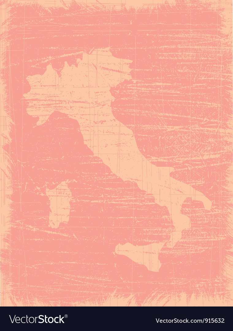 Italy aged map vector | Price: 1 Credit (USD $1)