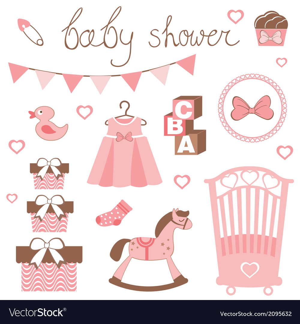 Little lady baby shower vector | Price: 1 Credit (USD $1)