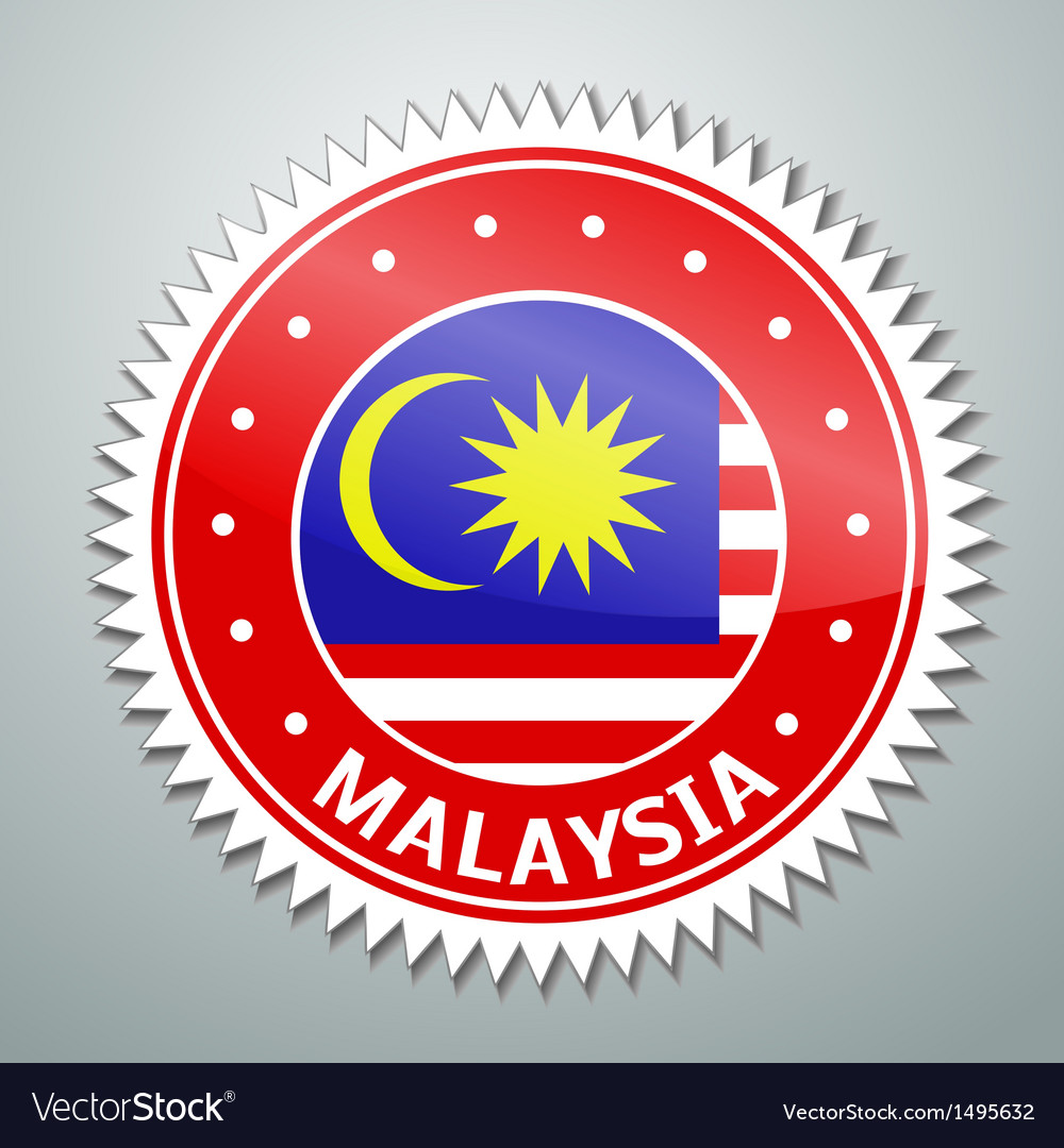 Malayan flag label vector | Price: 1 Credit (USD $1)