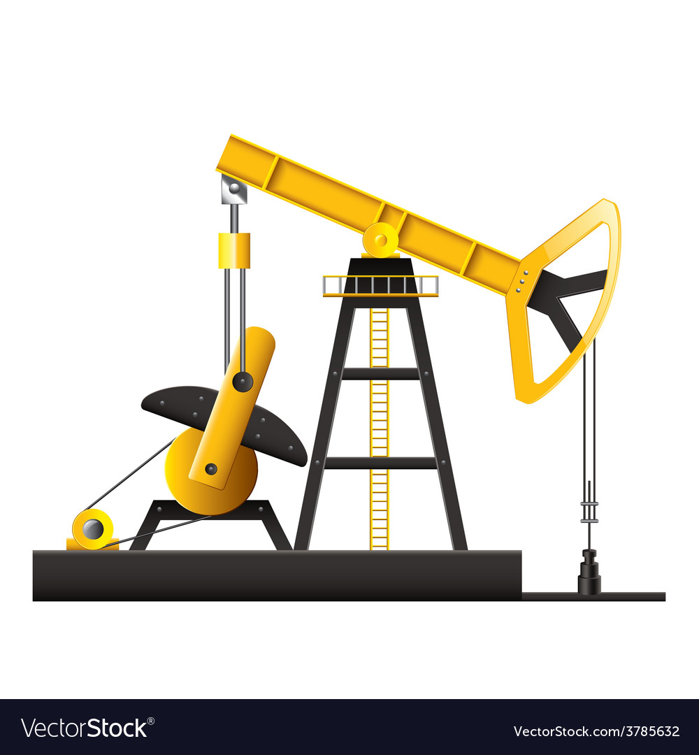 Oil pump isolated vector | Price: 3 Credit (USD $3)