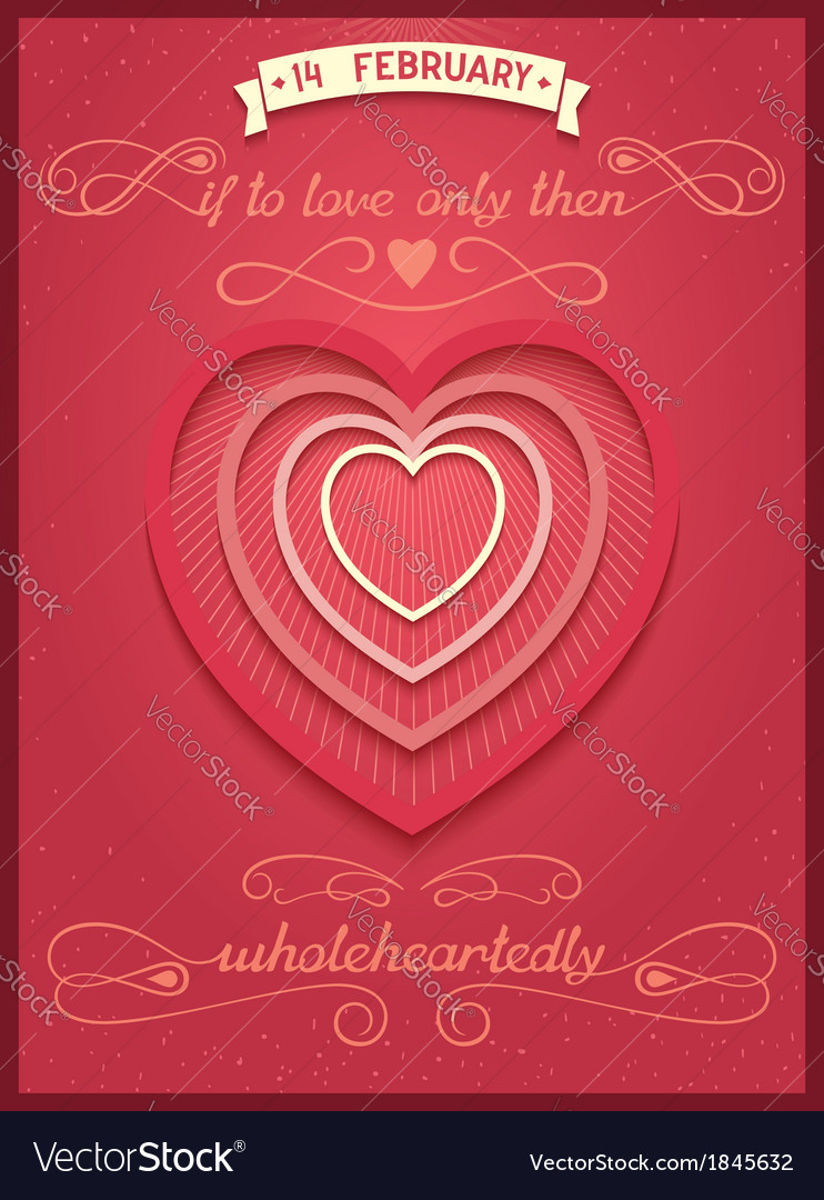 Phrase poster for valentines day vector | Price: 1 Credit (USD $1)