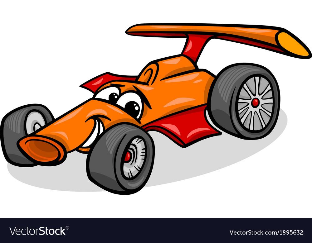 Racing car bolide cartoon vector | Price: 1 Credit (USD $1)