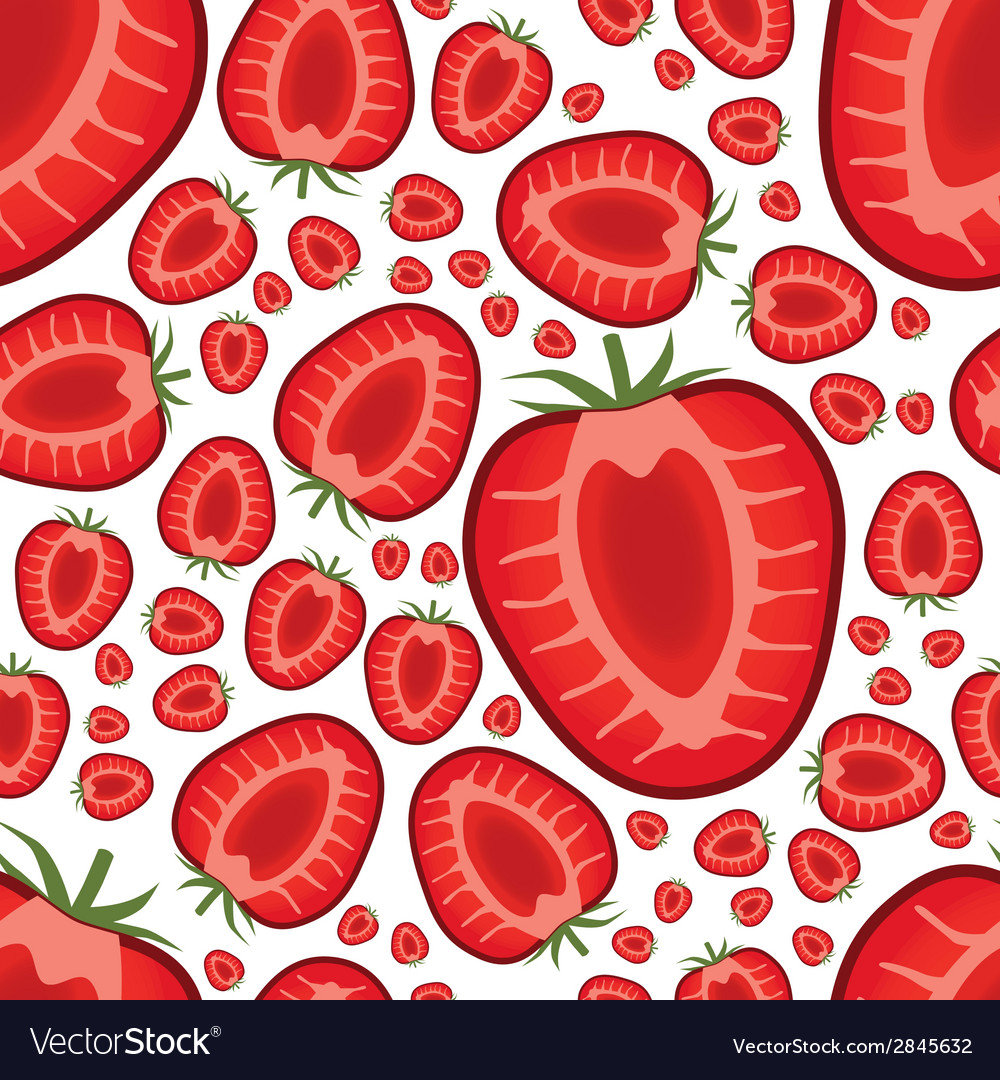 Seamless strawberry pattern vector | Price: 1 Credit (USD $1)