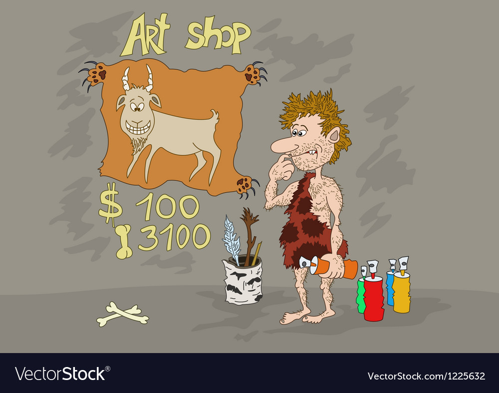 Stone age art shop vector | Price: 1 Credit (USD $1)