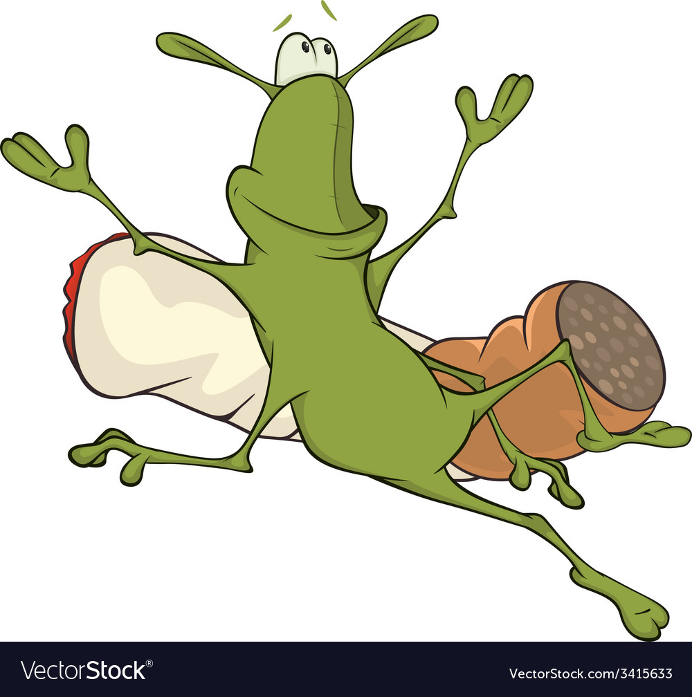 A cockroach and a cigarette cartoon vector | Price: 1 Credit (USD $1)