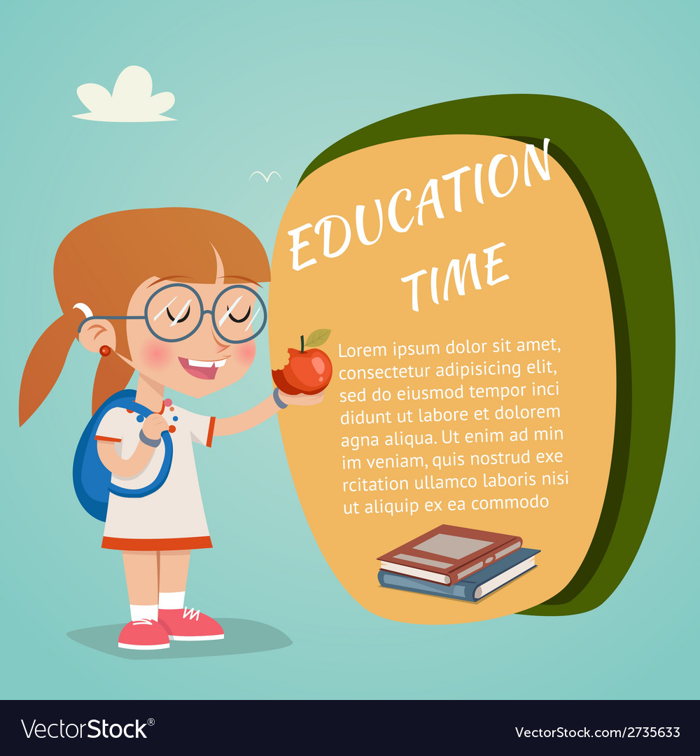 Colored education poster vector | Price: 1 Credit (USD $1)