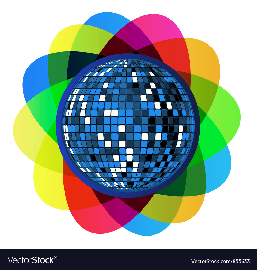 Colorful disco ball vector | Price: 1 Credit (USD $1)