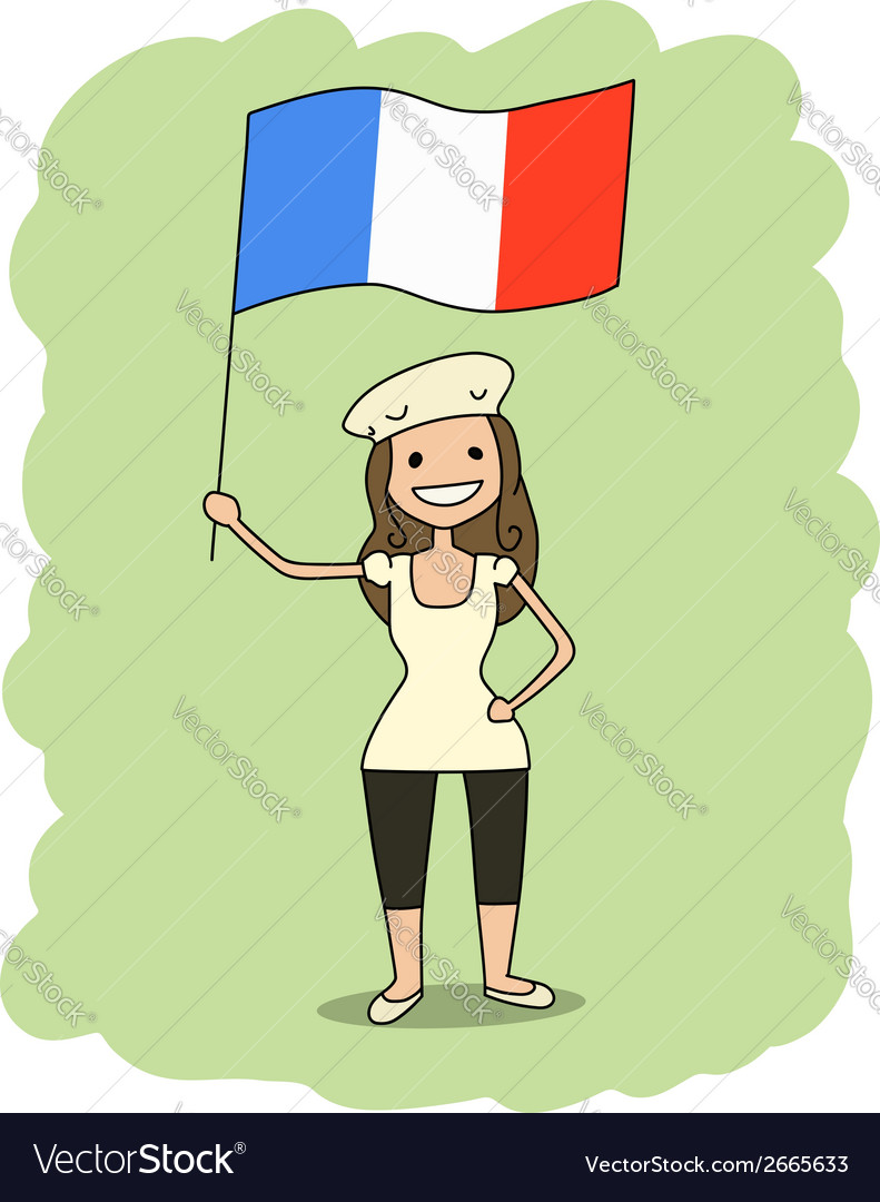 France flag vector | Price: 1 Credit (USD $1)