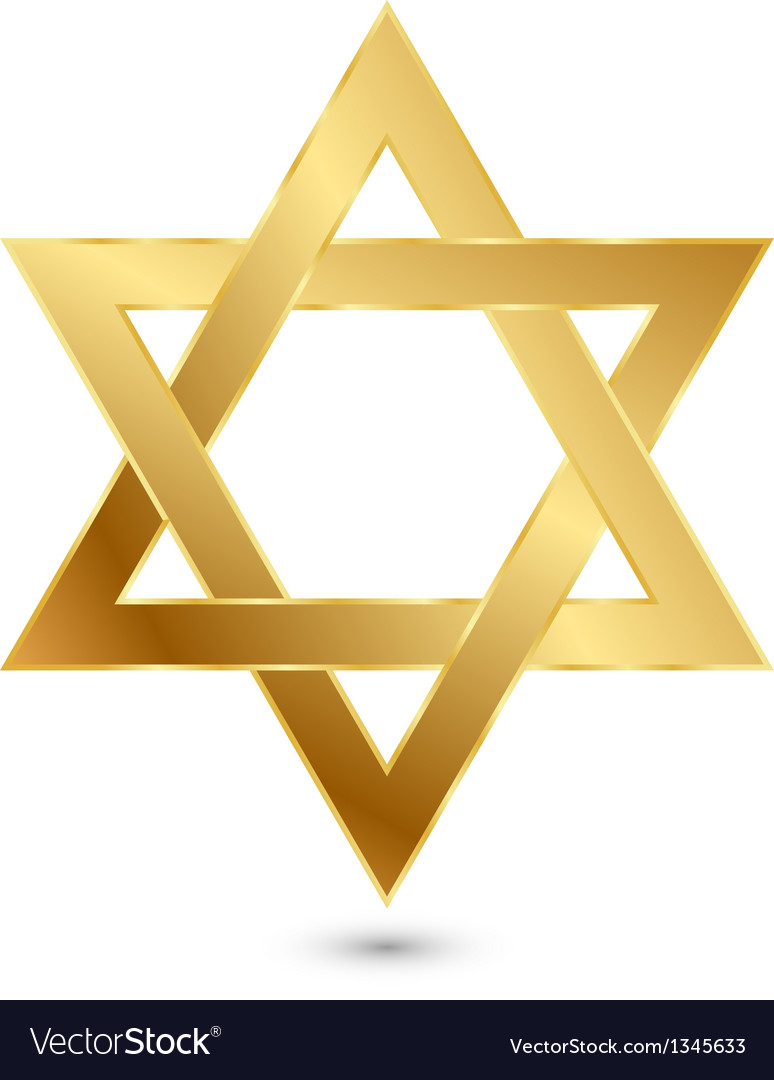 Golden magen david star of david vector | Price: 1 Credit (USD $1)