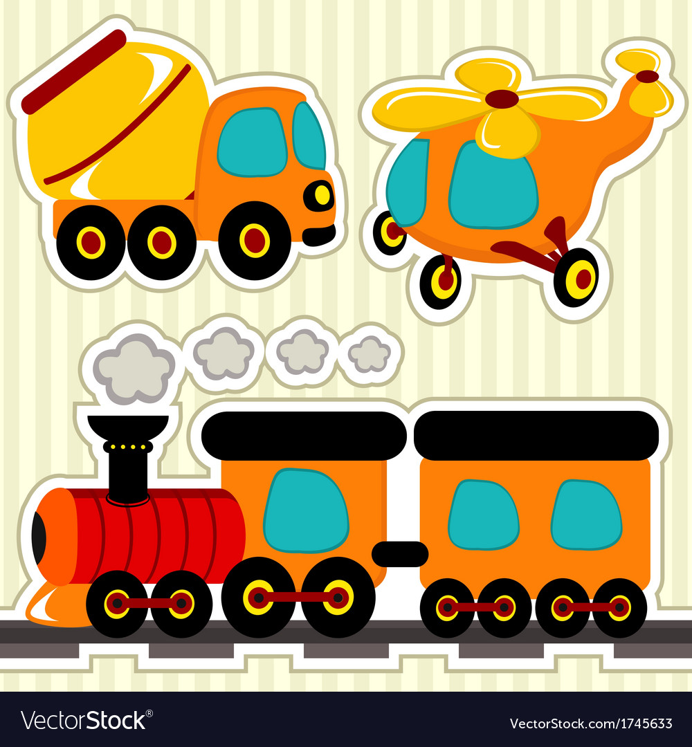 Icon set transport vector | Price: 1 Credit (USD $1)