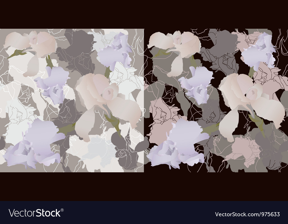 Irises seamless vector | Price: 1 Credit (USD $1)
