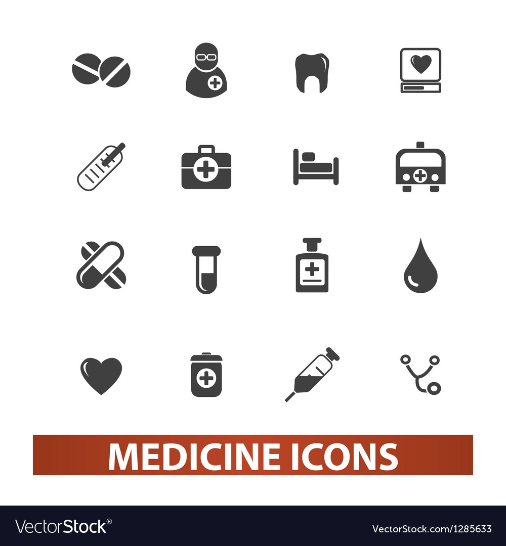 Medicine  health icons set vector | Price: 1 Credit (USD $1)