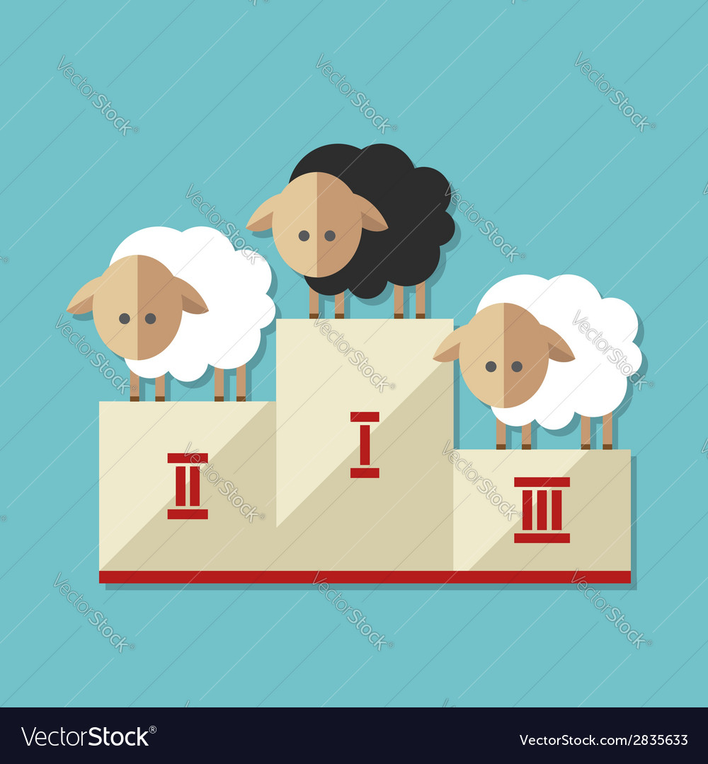 Modern flat design conceptual with sheep vector   Price: 1 Credit (USD $1)
