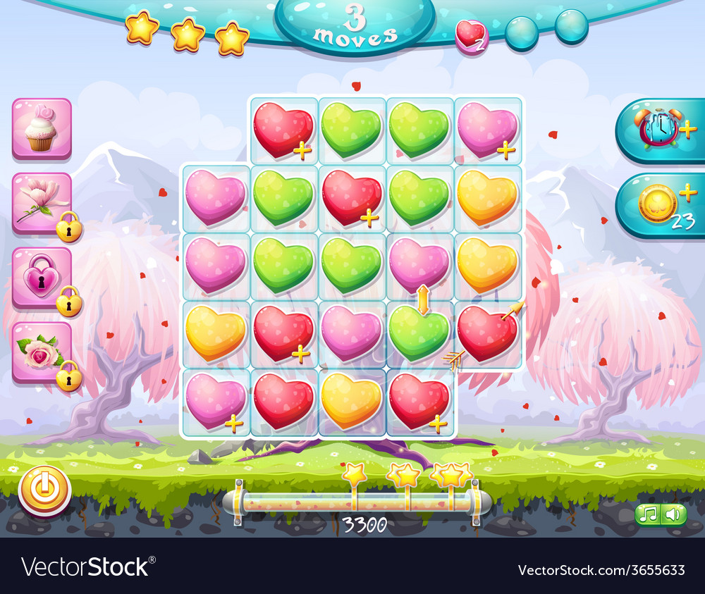 Playing field on the theme of valentines day vector | Price: 3 Credit (USD $3)