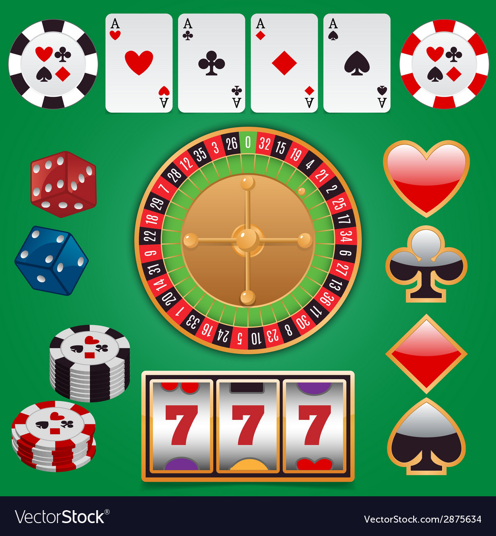 Casino design elements vector | Price: 1 Credit (USD $1)