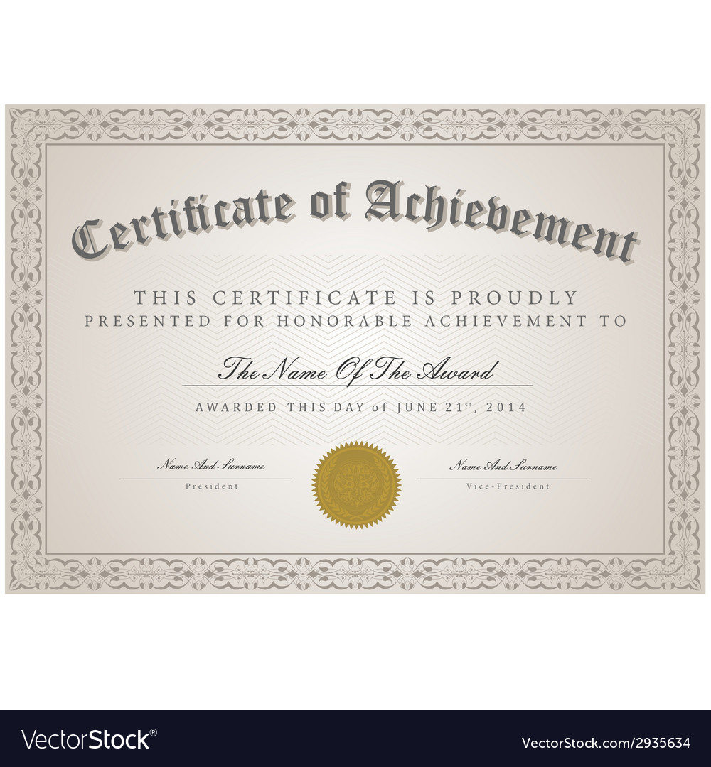 Certificate template concept vector | Price: 1 Credit (USD $1)