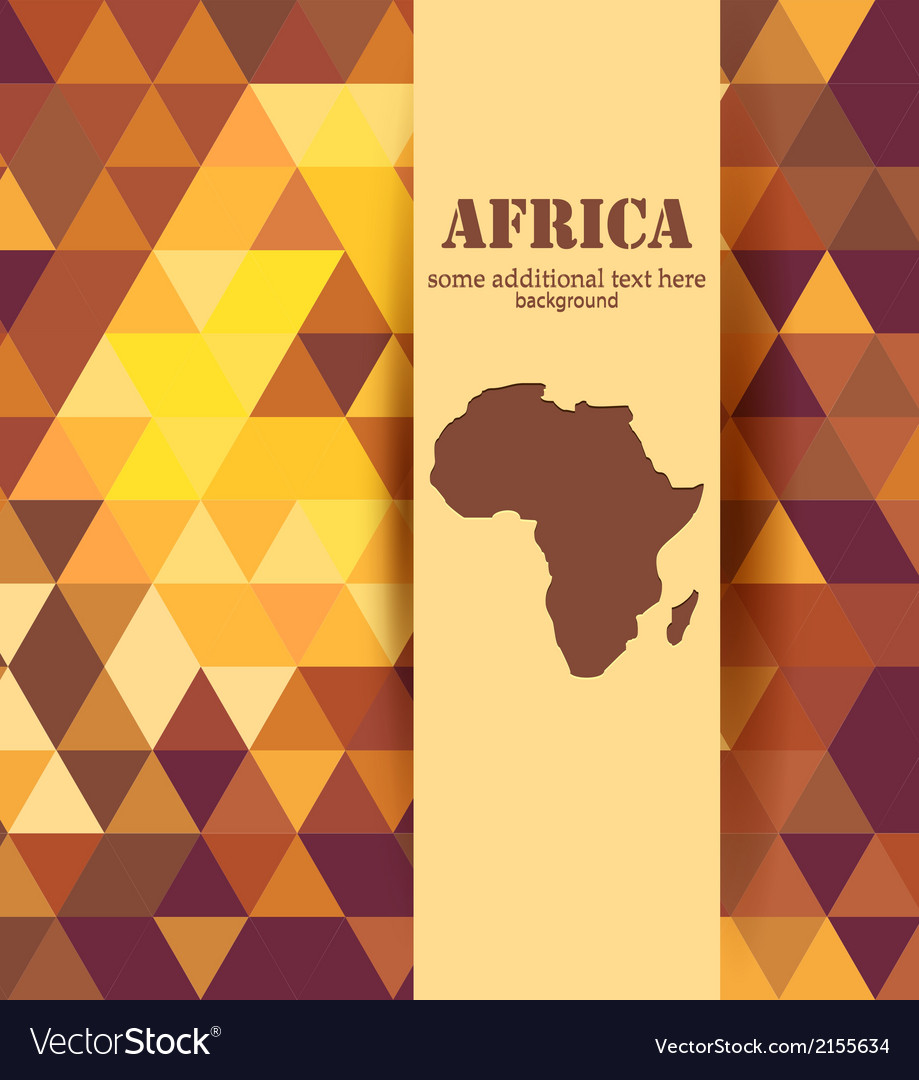 Colorful mosaic africa background vector | Price: 1 Credit (USD $1)