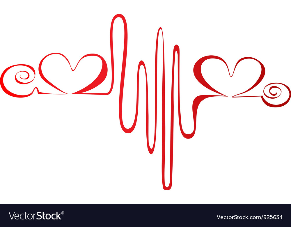 Heartbeat or cardiogram logo vector | Price: 1 Credit (USD $1)