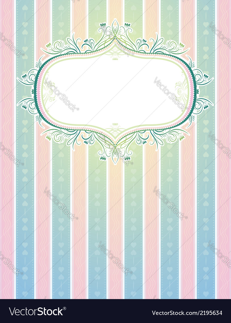 Striped classical background vector | Price: 1 Credit (USD $1)
