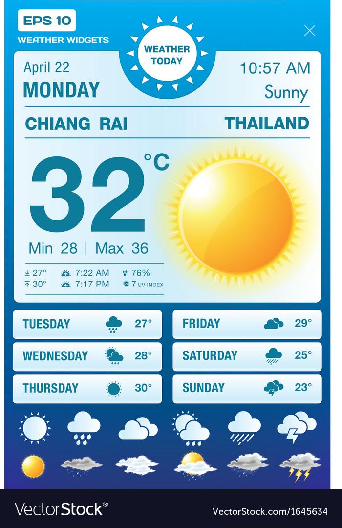 Weather widgets vector | Price: 1 Credit (USD $1)