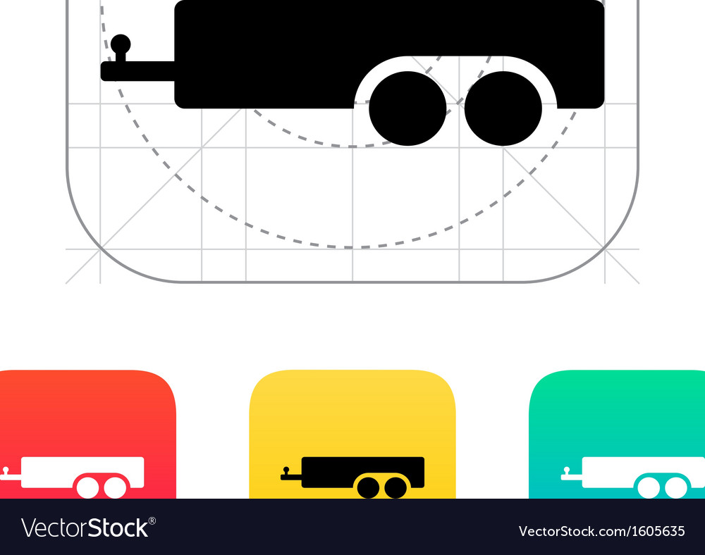 Car trailer icon vector | Price: 1 Credit (USD $1)