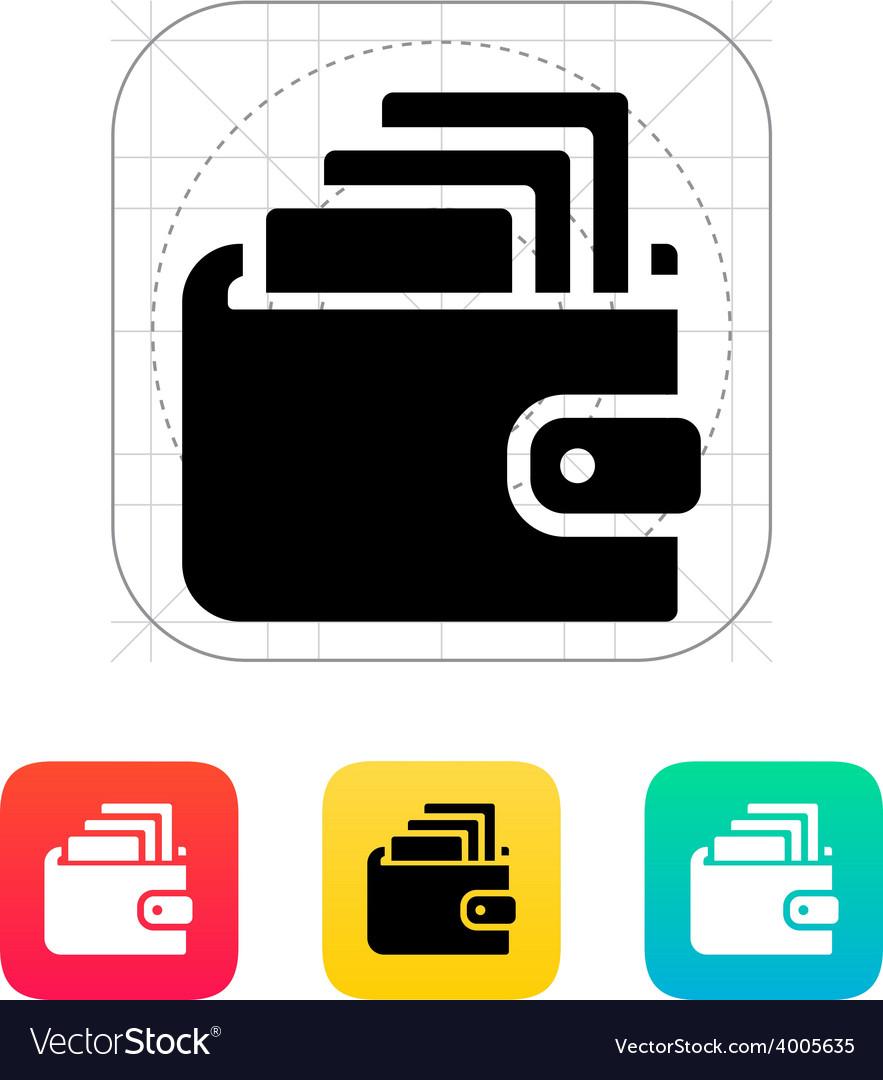 Cash in wallet icon vector | Price: 1 Credit (USD $1)