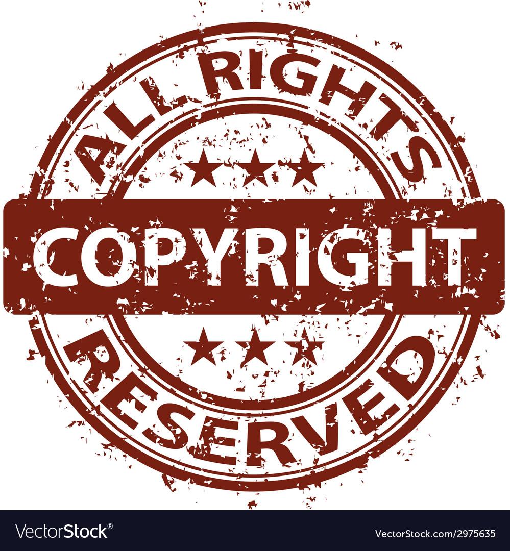 Damaged copyright stamp vector   Price: 1 Credit (USD $1)
