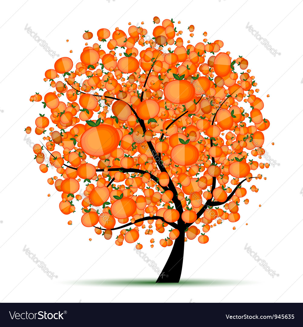 Energy citrus tree for your design vector | Price: 1 Credit (USD $1)