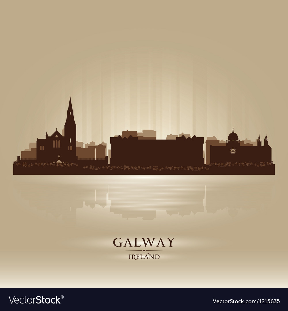 Galway ireland skyline city silhouette vector | Price: 1 Credit (USD $1)