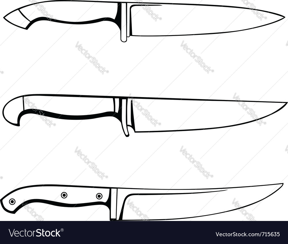 Kitchen knifes vector | Price: 1 Credit (USD $1)