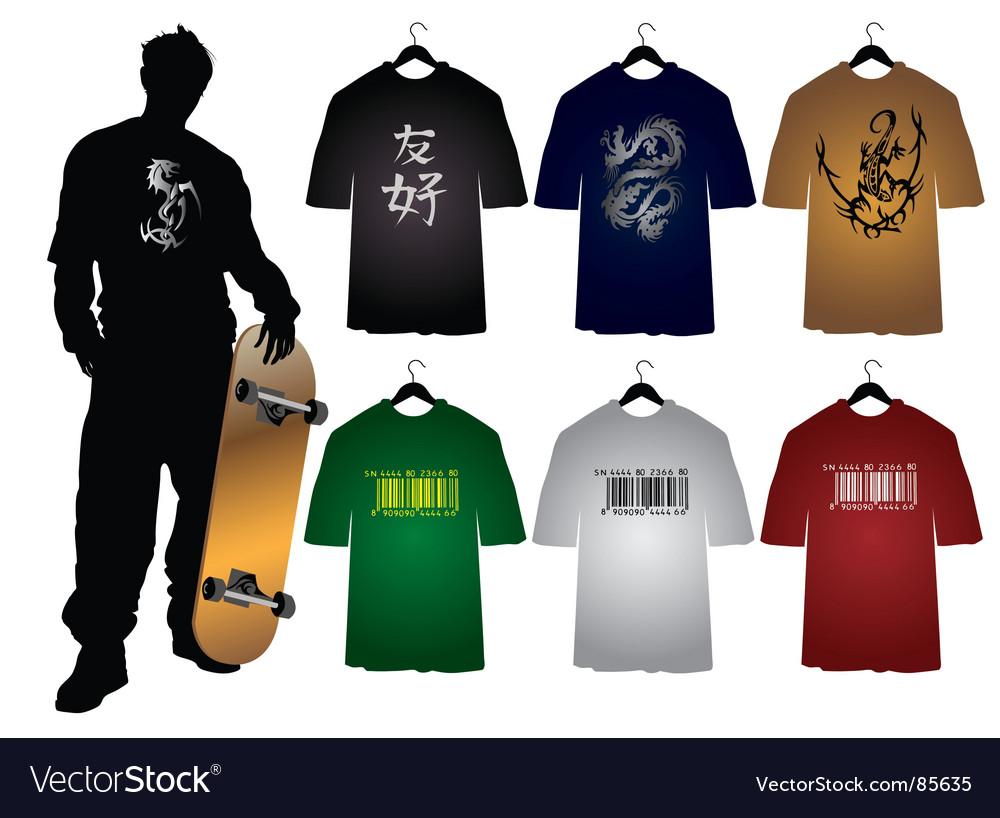 Men's t-shirts vector | Price: 1 Credit (USD $1)
