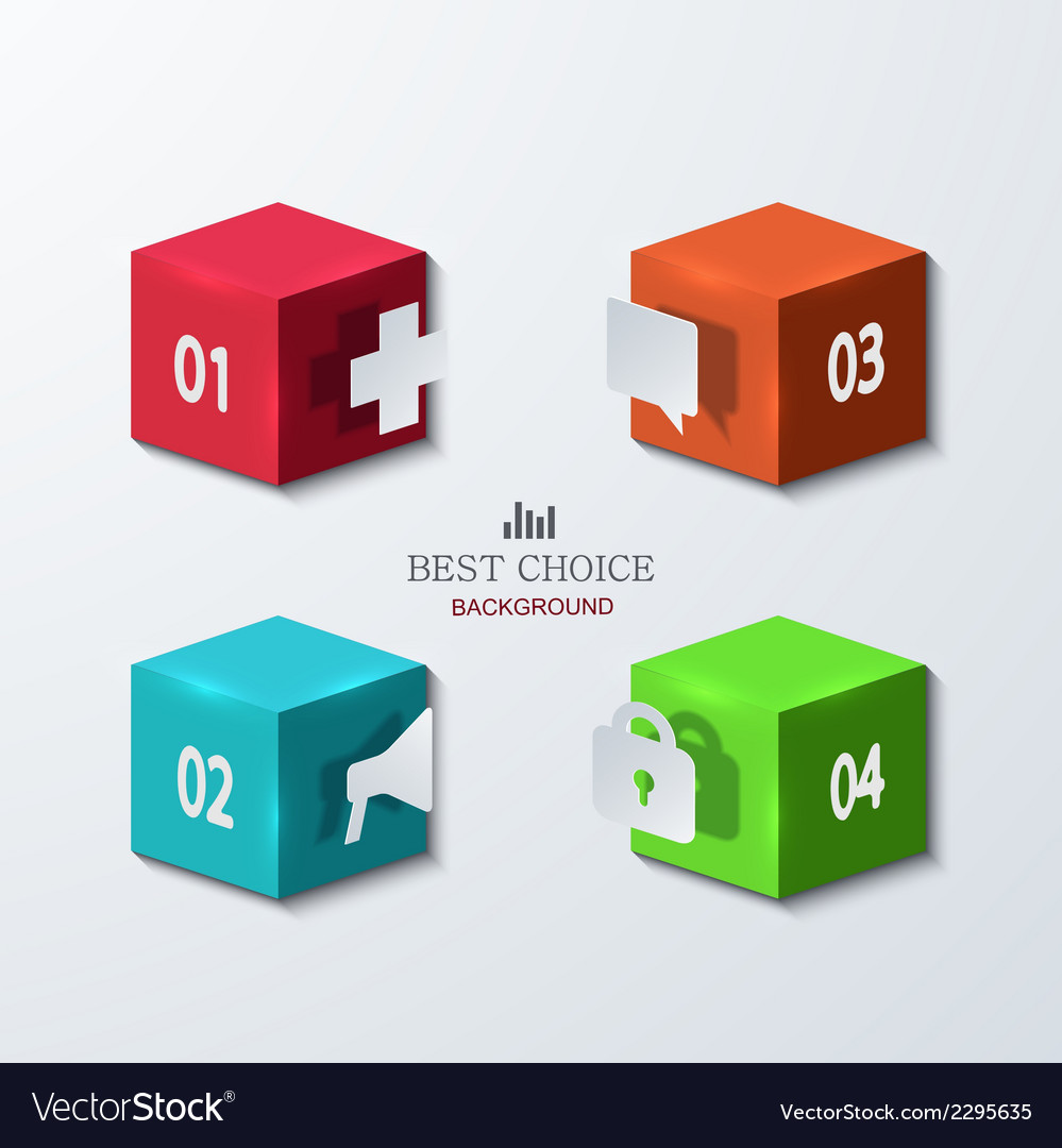 Modern cube infographics element design vector | Price: 1 Credit (USD $1)