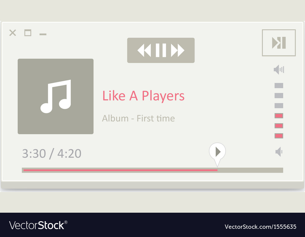 Music player 11 vector | Price: 1 Credit (USD $1)