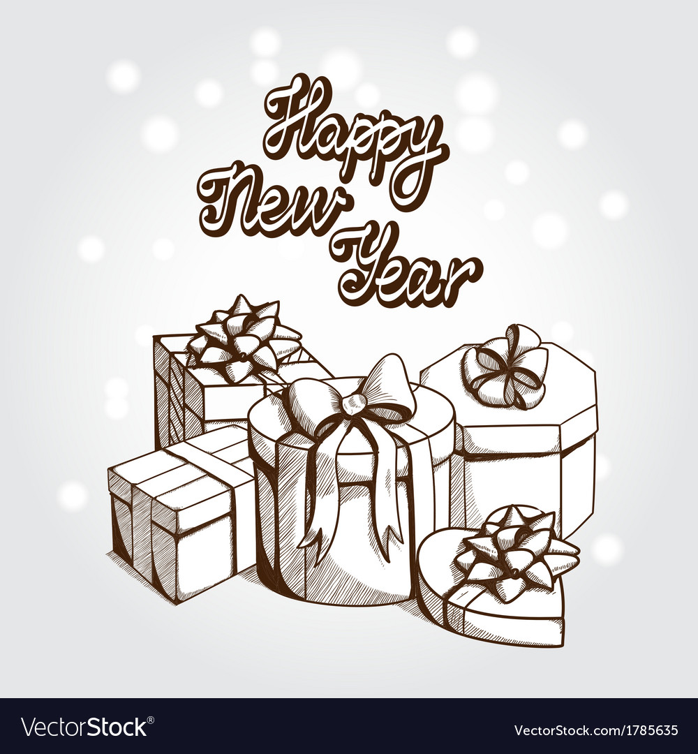 New year card concept vector | Price: 1 Credit (USD $1)