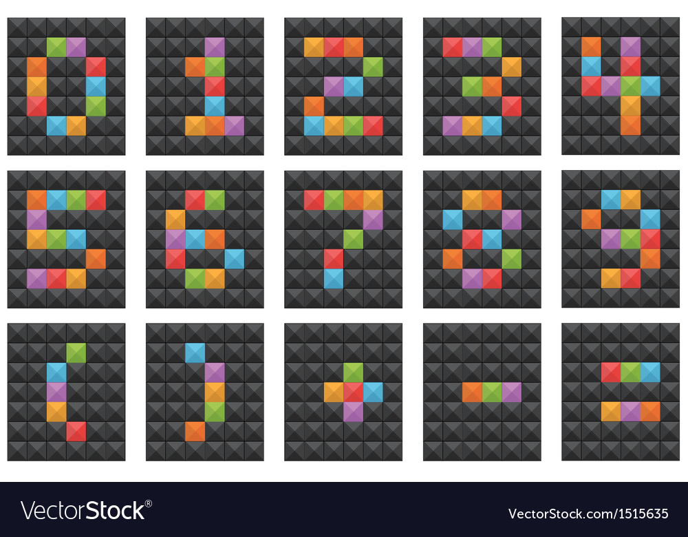 Numbers on black vector   Price: 1 Credit (USD $1)