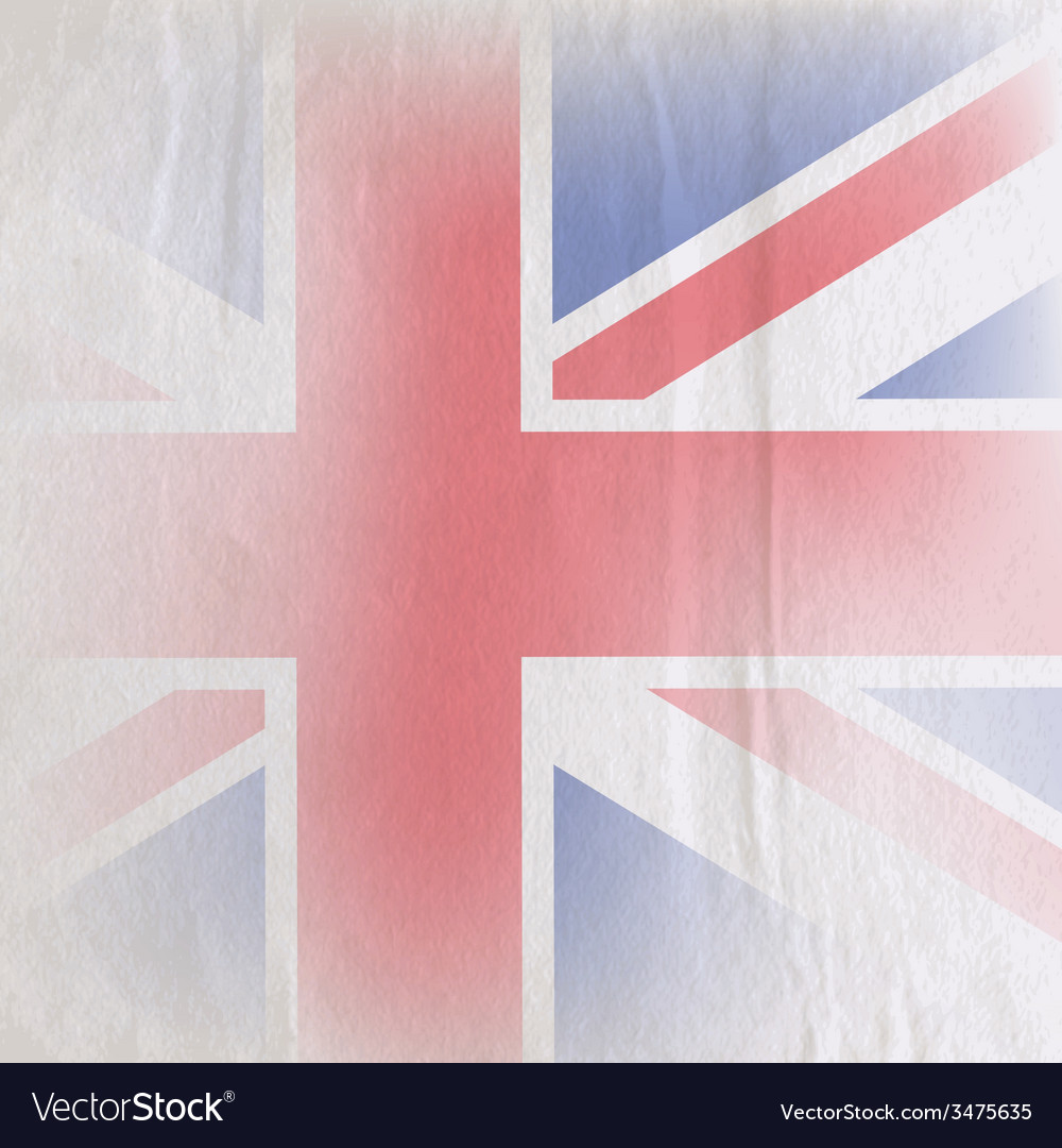 Old vintage paper texture with british union jack vector | Price: 1 Credit (USD $1)