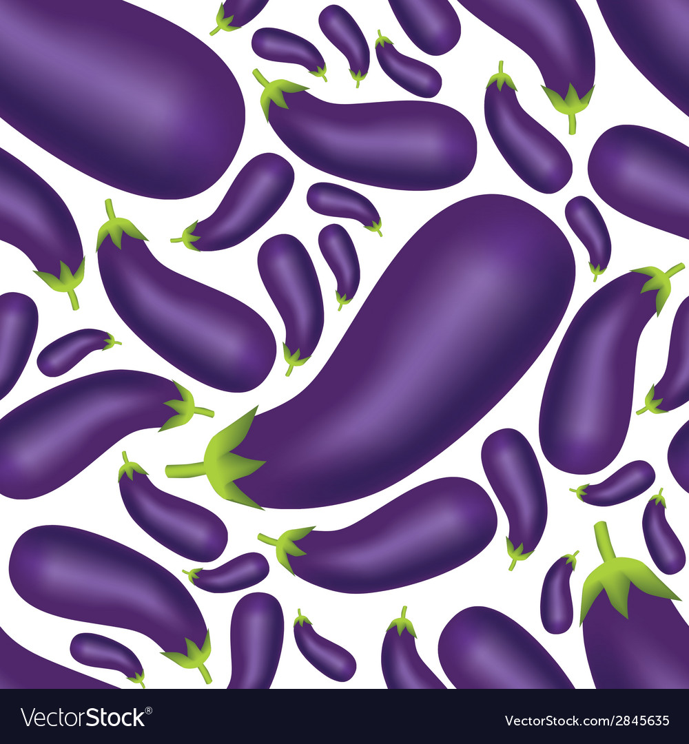 Seamless eggplant pattern vector | Price: 1 Credit (USD $1)