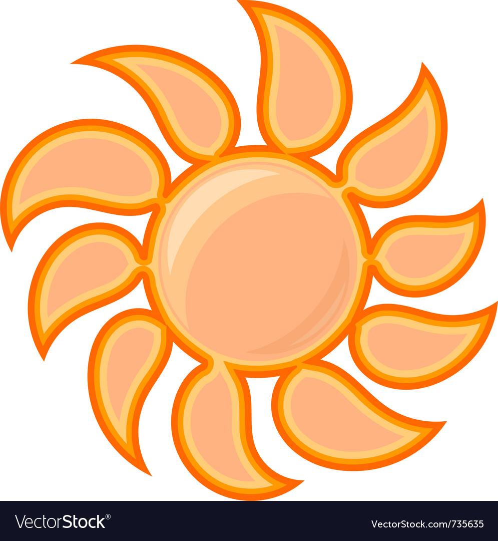 Sun sign vector | Price: 1 Credit (USD $1)
